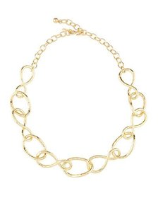 Kenneth Jay Lane Twisted Open Link Necklace 20