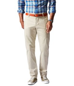 Dockers Alpha Khaki Flat Front Athletic Fit Pants