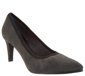 Lori Goldstein Collection Washed Linen Pumps with