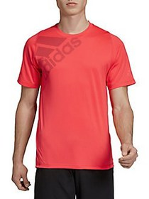 Adidas FreeLift Badge Of Sport Graphic Tee RED SHO