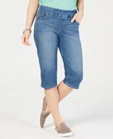 Style & Co Avery Pull-On Skimmer Jeans, Created fo
