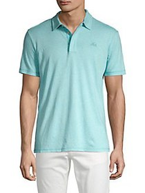 SURFSIDESUPPLY Short Sleeve Polo Tee AQUA HEATHER
