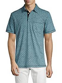 SURFSIDESUPPLY Printed Short Sleeve Polo TEAL