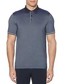 Perry Ellis Regular-Fit Striped Short-Sleeve Polo