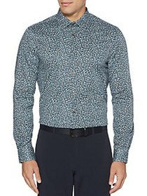 Perry Ellis Regular-Fit Abstract-Print Button-Down