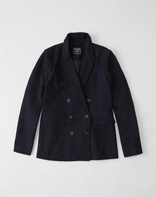 Double Breasted Blazer, NAVY BLUE
