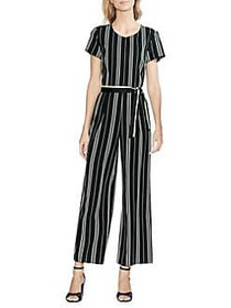 Vince Camuto Daybreak Striped Jumpsuit RICH BLACK