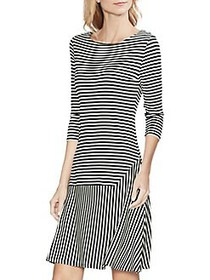 Vince Camuto Daybreak Striped Fit-&-Flare Dress BL