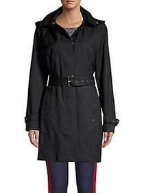 MICHAEL Michael Kors Belted Trench Jacket BLACK