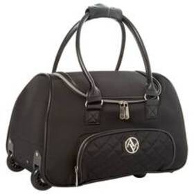 Adrienne Vittadini Quilted 18in. Wheeled Duffel