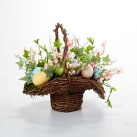 Beauty Silk Easter Egg in Basket
