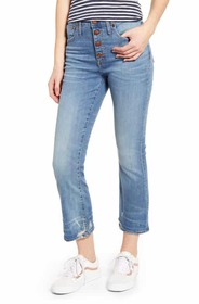 Madewell Cali Button Fly Demi Bootcut Jeans (Bess)