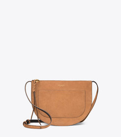 Tory Burch PIPER SUEDE SADDLEBAG