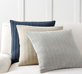 Pottery Barn Chenille Textured Stripe Pillow Cover