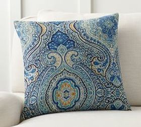 Pottery Barn Beale Paisley Reversible Pillow Cover