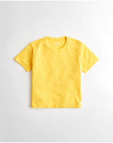 Hollister Must-Have Easy T-Shirt, YELLOW