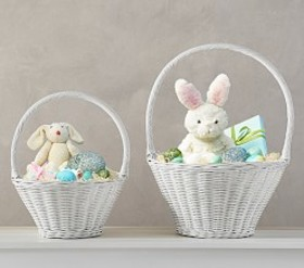 Pottery Barn White Sabrina Easter Baskets
