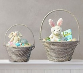 Pottery Barn Quinn Gray Collapsible Handle Easter