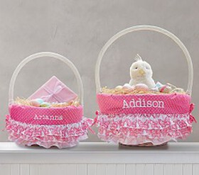 Pottery Barn Tiered Ruffle Butterfly Easter Basket