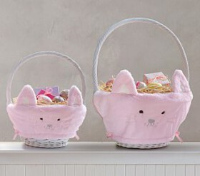 Pottery Barn Kitty Easter Basket Liners