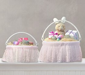 Pottery Barn Blush Ombre Pearl Easter Basket Liner