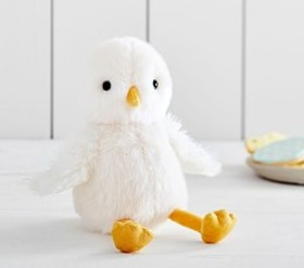 Pottery Barn White Plush Chick