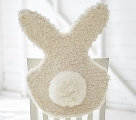 Pottery Barn Fur Bunny Chairbacker