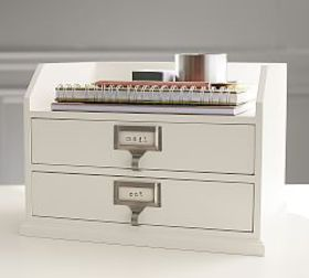 Pottery Barn Bedford Two-Drawer Paper Organizer