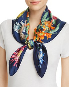 Echo - Blooms of Oceania Silk Square Scarf