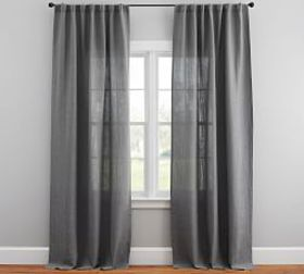 Pottery Barn Belgian Linen Blackout Curtain Made w