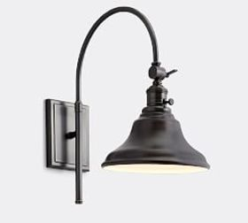Pottery Barn PB Classic Arc Sconce - Curved Metal