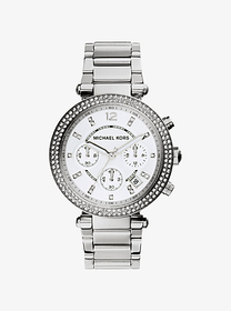 Michael Kors Parker Silver-Tone Watch