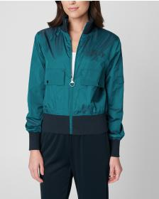 Juicy Couture IRIDESCENT BOMBER JACKET WITH EMBROI