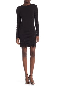 Kendall & Kylie Ruched Long Sleeve Dress