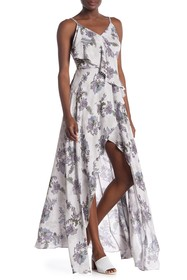ONE ONE SIX Printed Ruffle Hi-Lo Dress