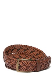 Tommy Bahama 32mm Two-Tone Woven Leather Belt
