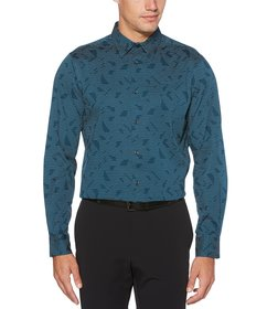 Perry Ellis Big & Tall Abstract Line Stretch Long-
