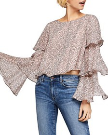 BCBGENERATION - Printed Tiered-Sleeve Top