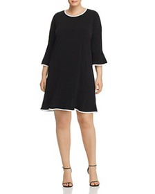 MICHAEL Michael Kors Plus - Piped Flounce Dress