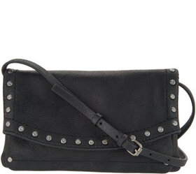 """As Is"" frye & co. Leather Stud Crossbody Clutch-V"