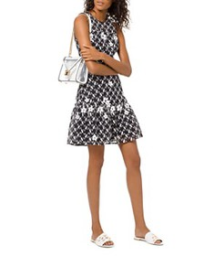 MICHAEL Michael Kors - Floral-Appliqué Mesh Dress