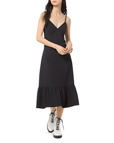 MICHAEL Michael Kors - Flounced Midi Slip Dress