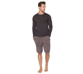 Barefoot Dreams Men's Long Sleeve Washed Crew Tee