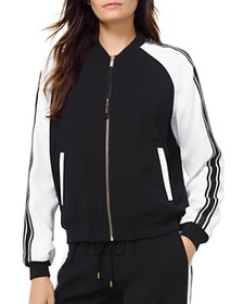 MICHAEL Michael Kors - Striped Sleeve Bomber Jacke