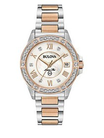 Bulova Two-Tone Stainless Steel Band Watch TWO TON