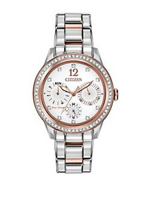 Citizen Ladies Eco Drive Two Tone Watch with Swaro