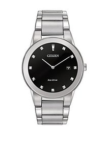 Citizen Mens Axiom Eco-Drive Diamond Stainless Ste