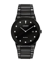 Citizen Mens Axiom Eco-Drive Black-Plated Stainles