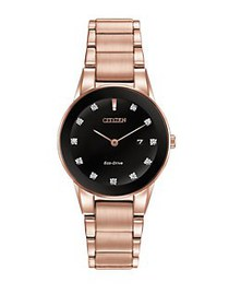 Citizen Axiom Diamond Pink Goldtone Stainless Stee