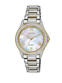 Citizen Drive Swarovski Crystal Two-Tone Stainless